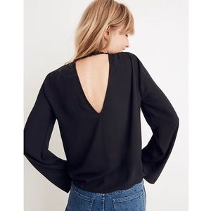 New MADEWELL | Tie Bell Sleeve Cut Out Blouse